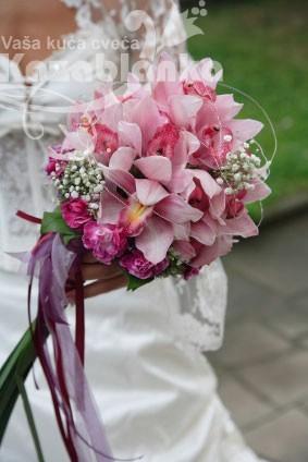 BDM 076. Bidermajer - Roze Orhideja