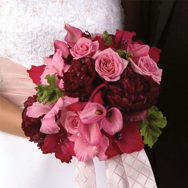 BDM 033. Bidermajer - Kombinacija Ruža, Gladiola, Božura i Kala sa dekoracijom