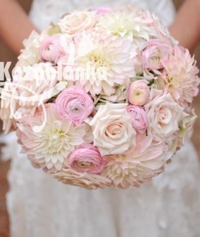 Bidermajer - Dalije, ranunculus i ruže